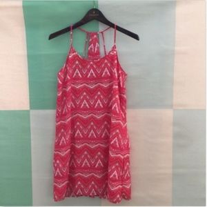 SKIES ARE BLUE red & white halter strappy Dress SM